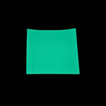 Fotoluminiscenční Vinyl PVC-P - modrozelený - 1m2
