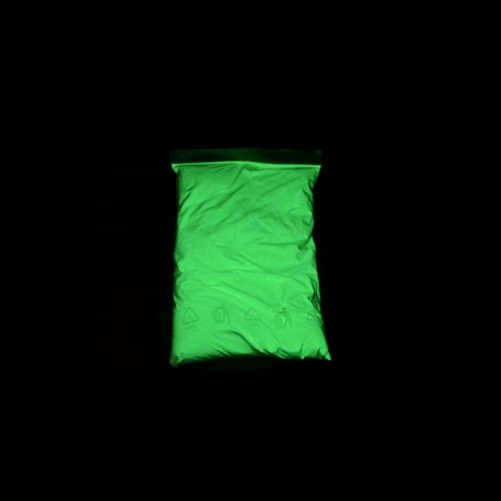 Žlutozelený - 0,5 kg, luminiscenční pigment - rychlonabíjecí
