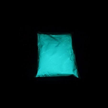 Svítící modrozelený  pigment - 0,5 kg, do glazury