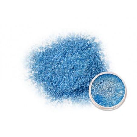 Metalický prášek světle modrý