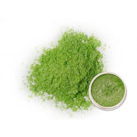 Perleťový prášek světle zelený