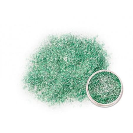 Třpytící zelený metalický prášek