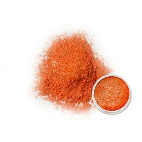 Oranžový metalický pigment